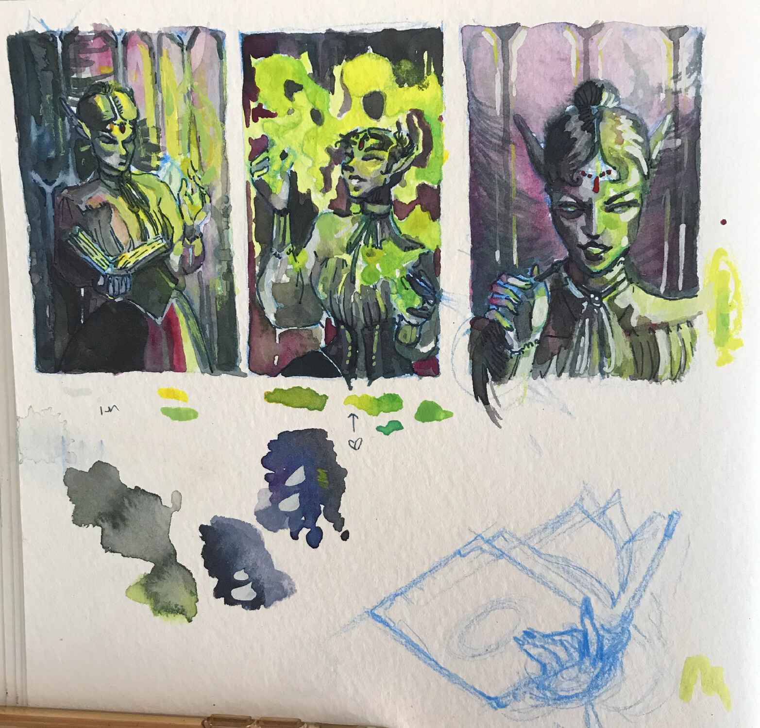thumbnails for the previous painting!