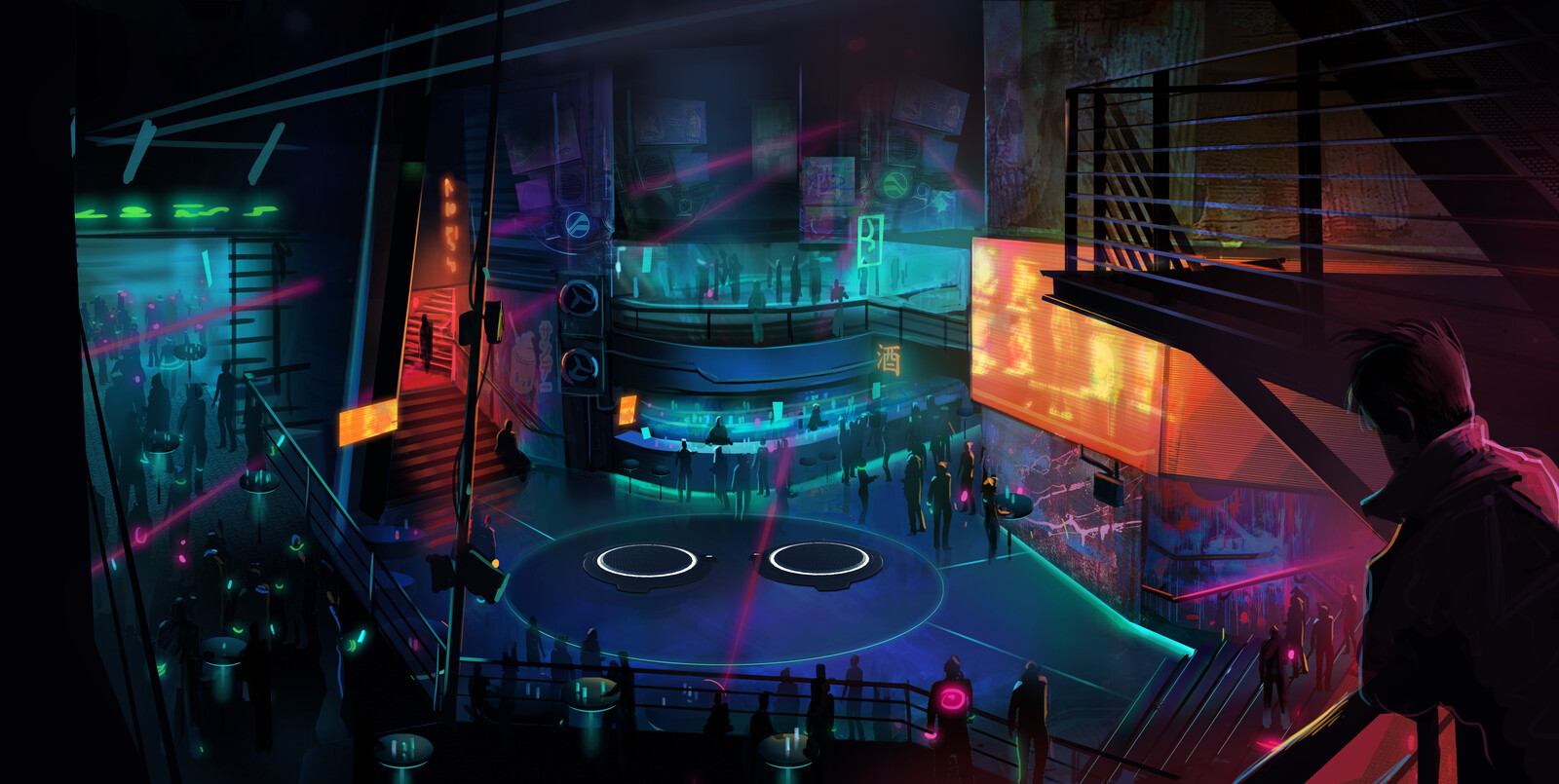 Lobby concept art by Ben Ward