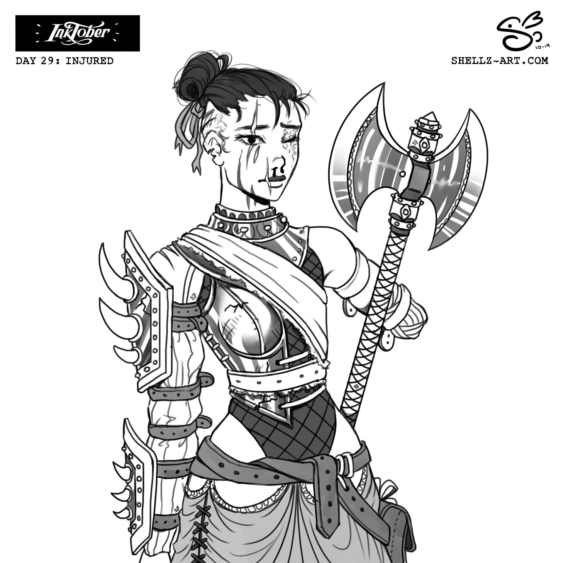 Fantasy Injured Character Art