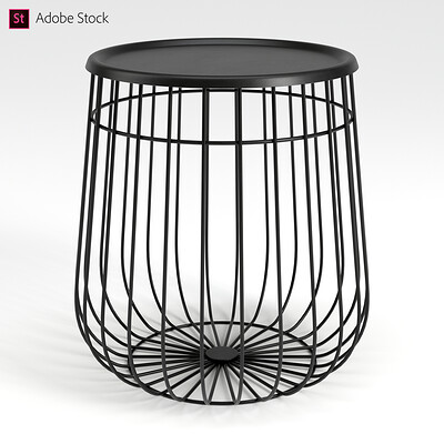 Adobe Stock | Wire End Table
