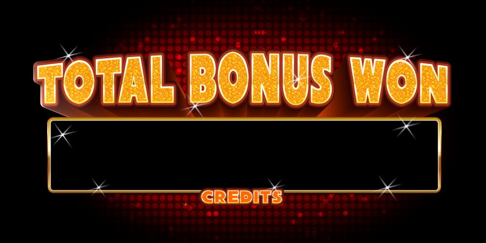 Total bonus won & meter - all assets and typography designed by Rhandi Fisher