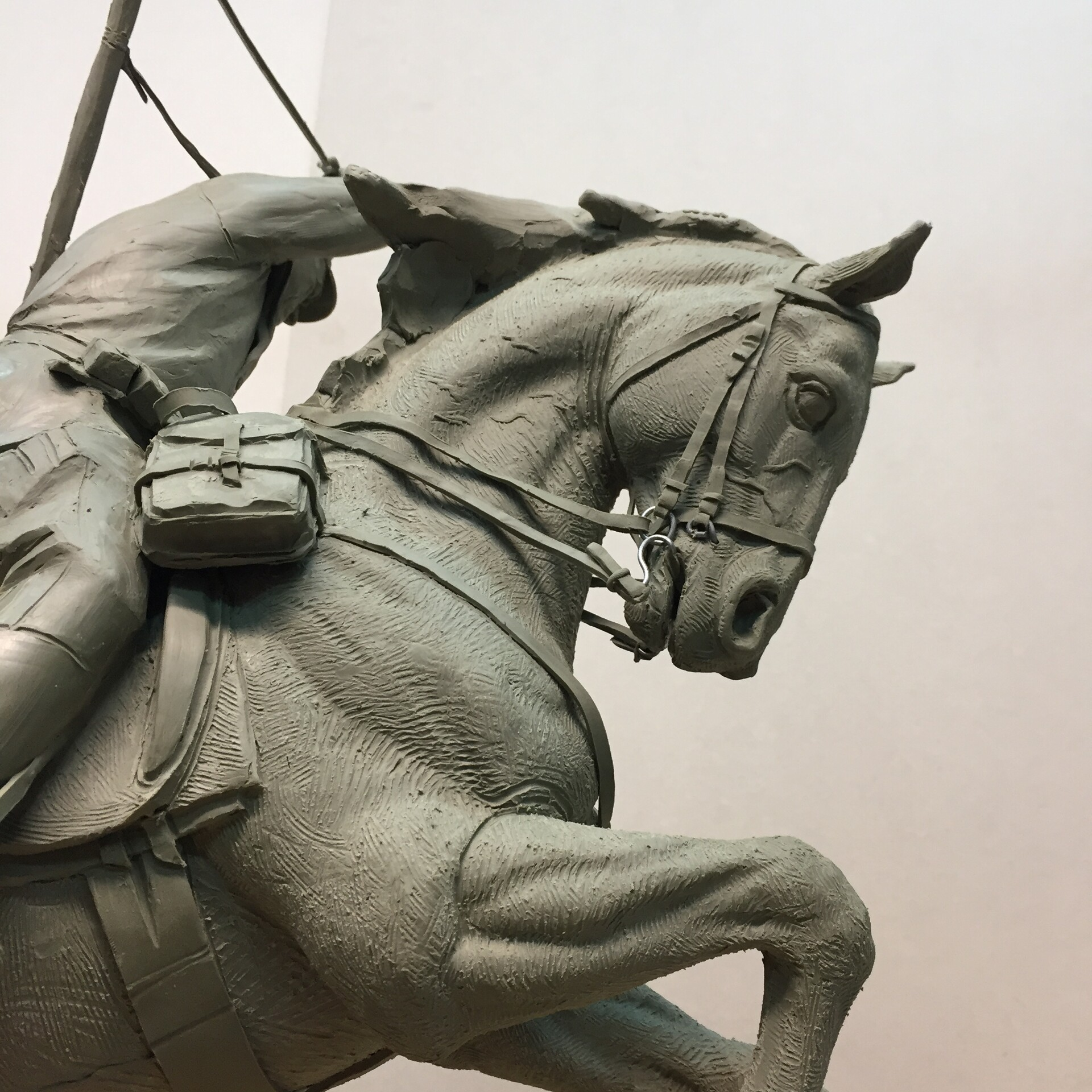 Concept of the Polish Cavalry monument - fragment.
