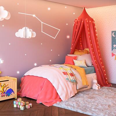 3d factory 3df portfolio chambre enfant lit 2