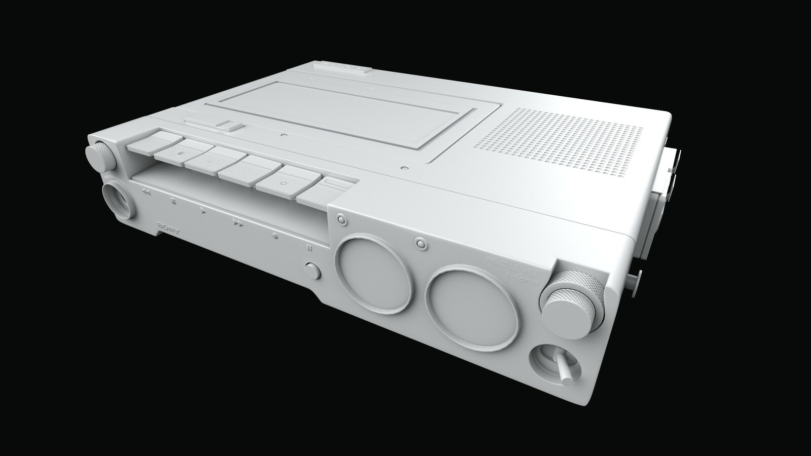 Clay render, complete with normal detailing.