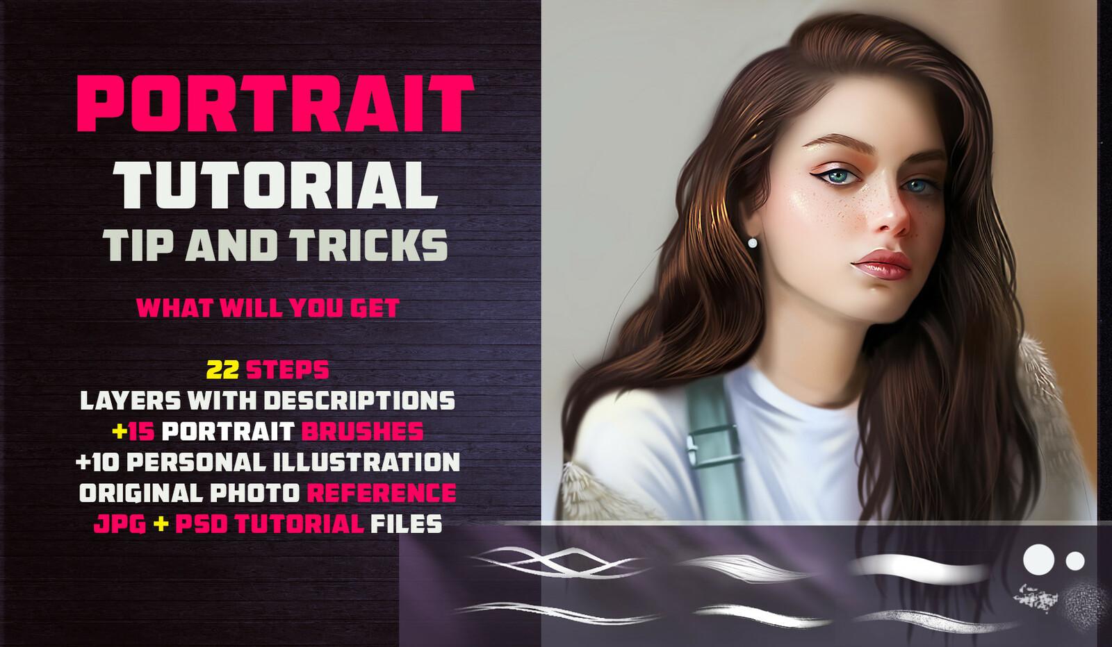 Artstation marketplace: https://www.artstation.com/vurdem/store/2qOv/portrait-tutorial-15-brushes-tip-and-tricks-photoshop