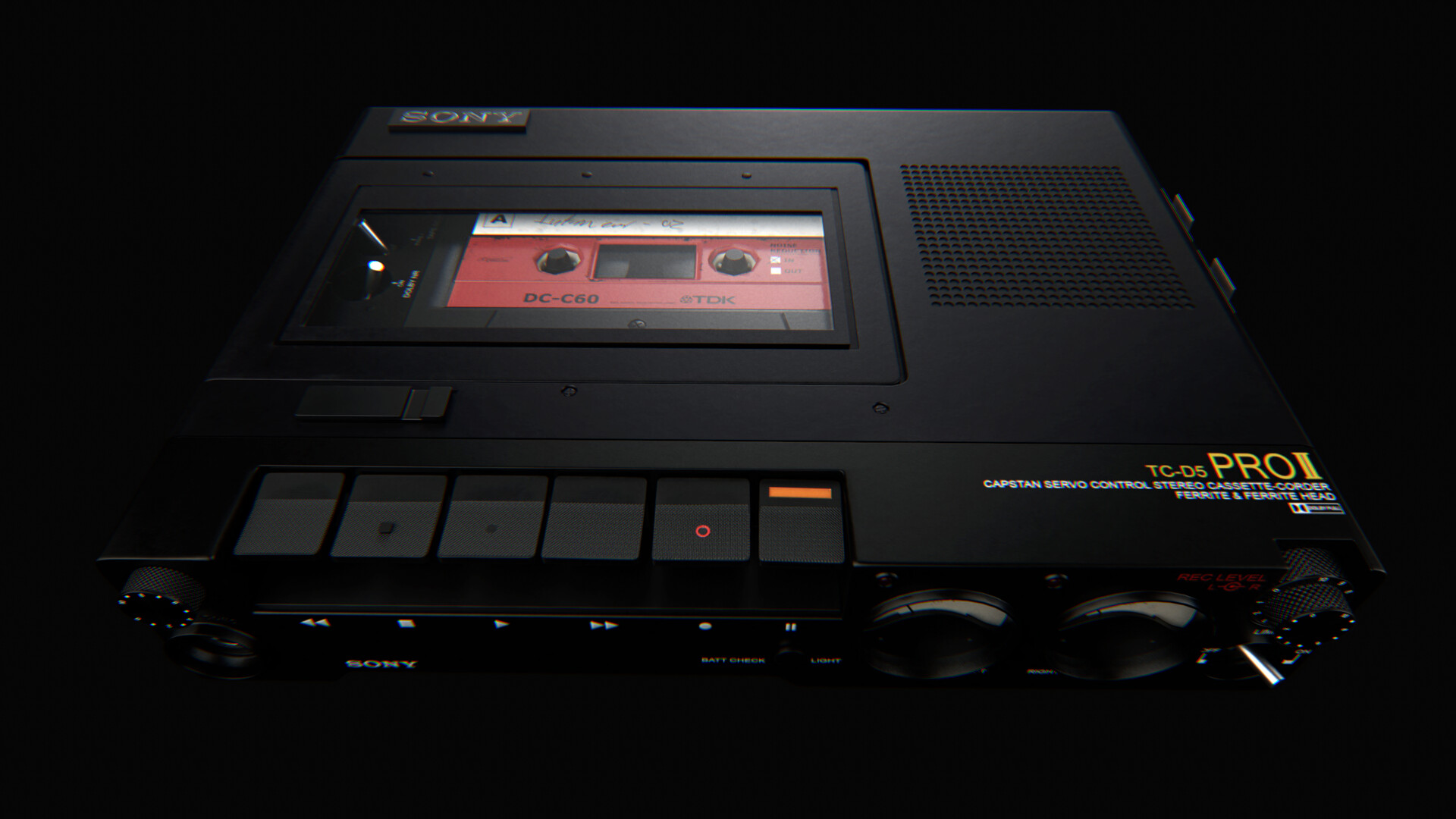 Better view of the cassette tape, created in collaboration with CG trader.com. Originally it was designed for use with procedural textures and required extensive modification and retexturing to get the final look.