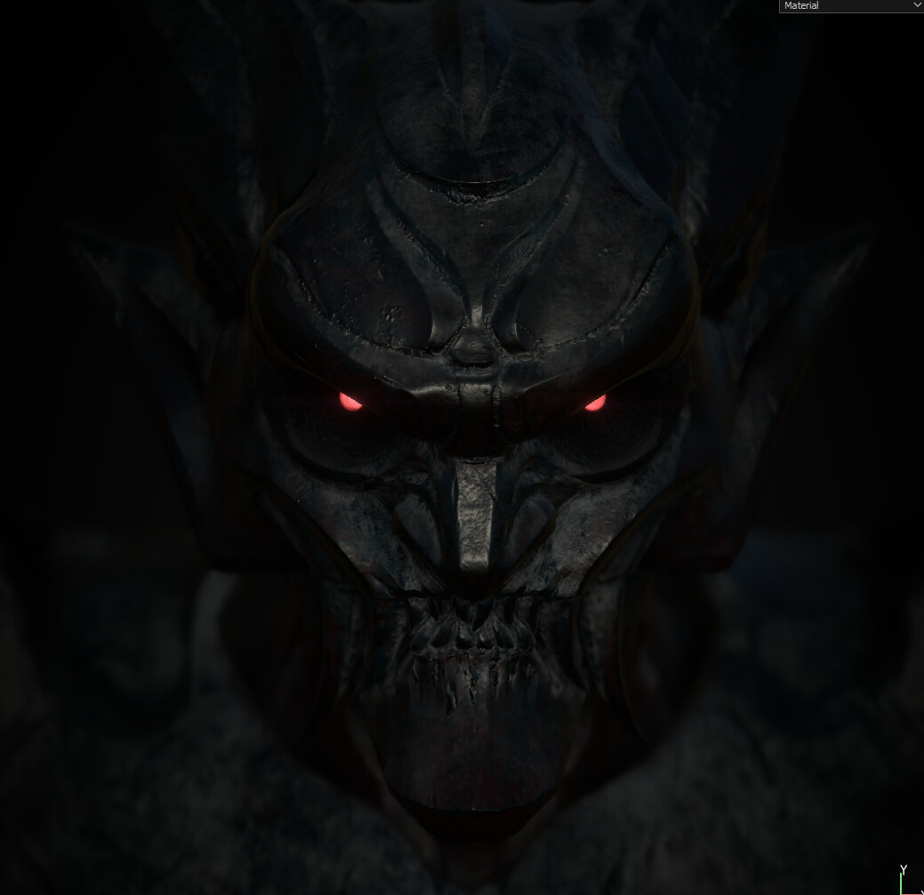 First pass of the Demon Textures + Emissive Eyes