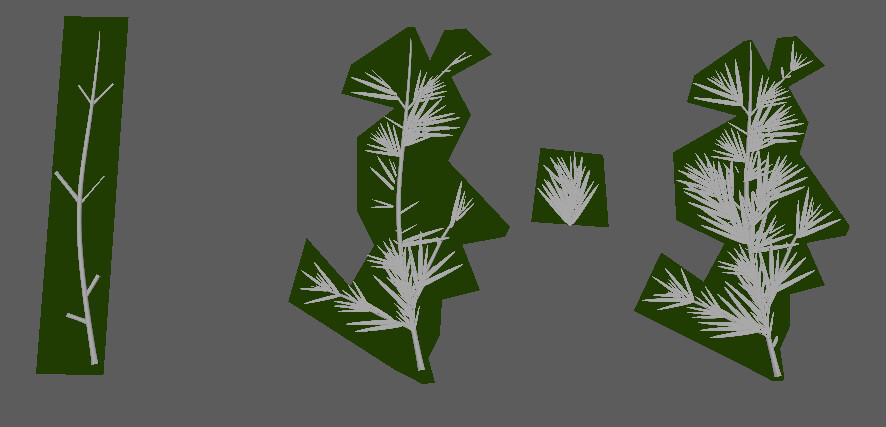 Low/High poly leafs for trees - Maya