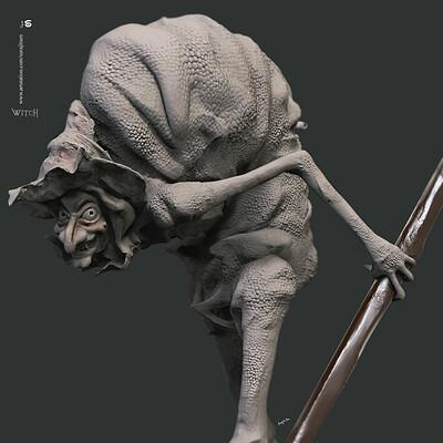 Surajit sen witch digital sculpture surajitsen oct2019