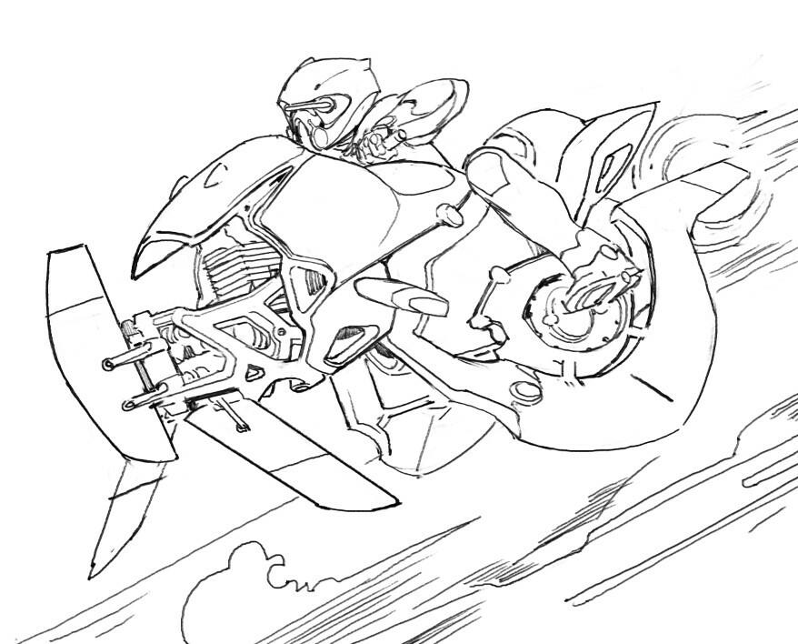 A speeder sketch
