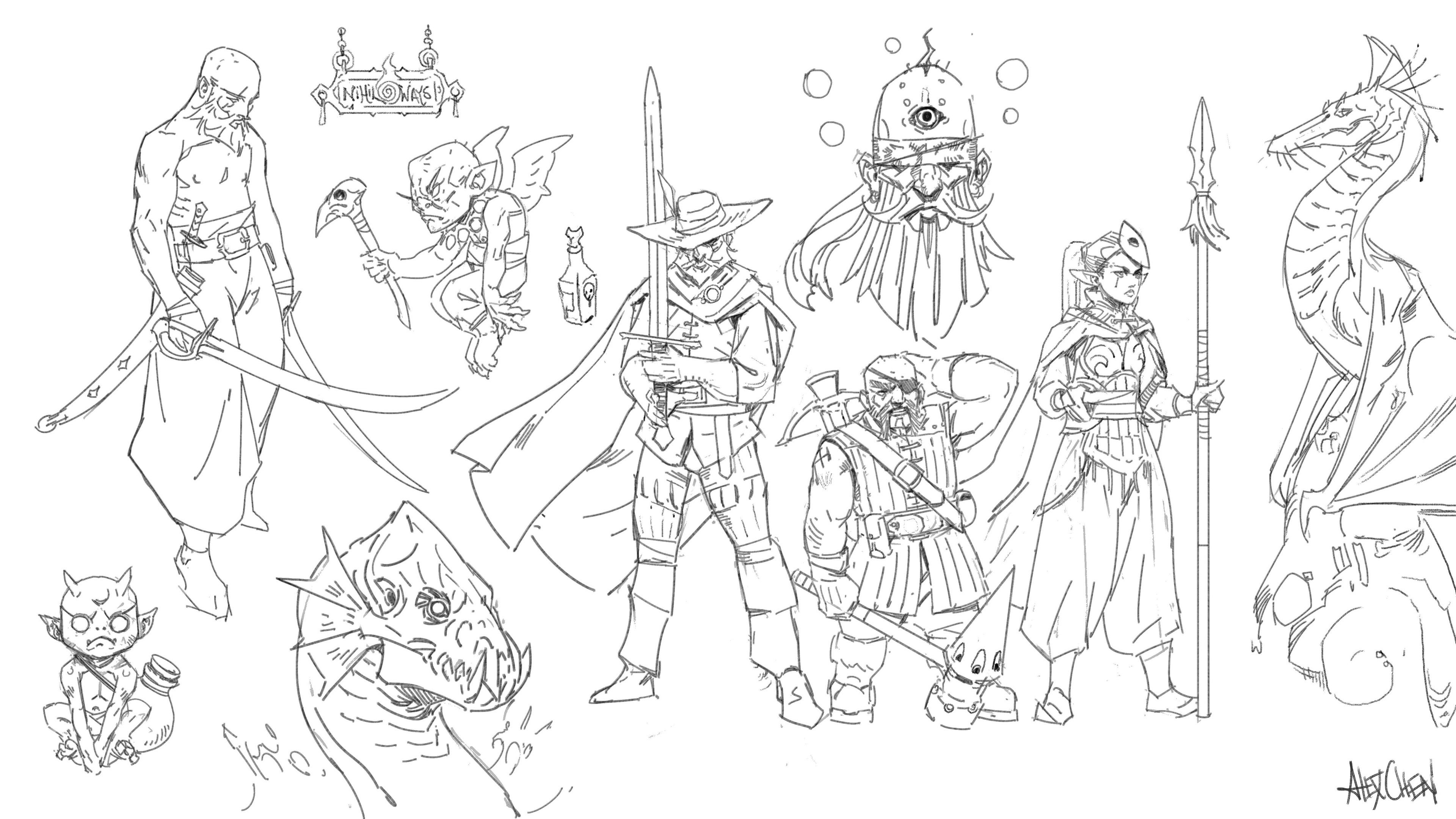 Fantasy Sketch Ramble