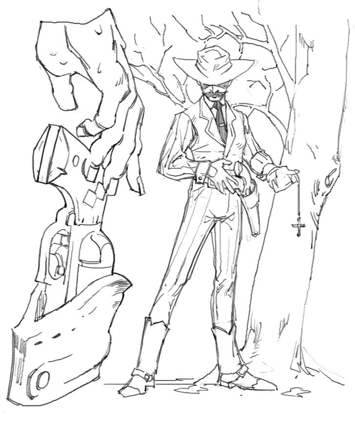 Gunslingers - Inspired a bit by Doc Holiday from Tombstone