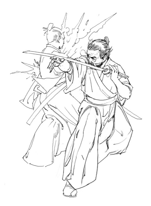 Samurai - This is the Sanjuro fight scene but reconstructed from the other side.