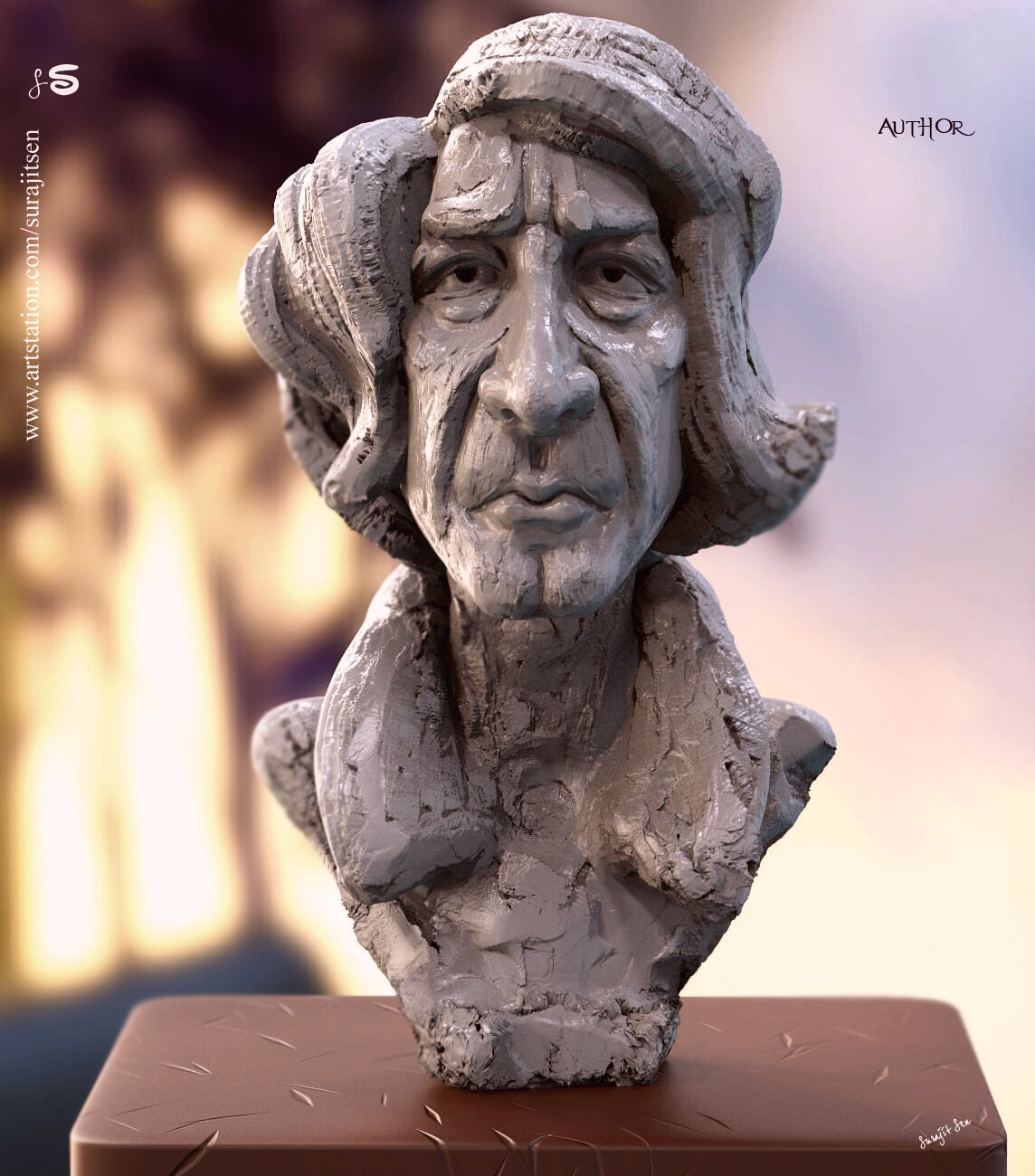 Author! One of my Digital Sculpture. Tried to make a form of my thoughts.