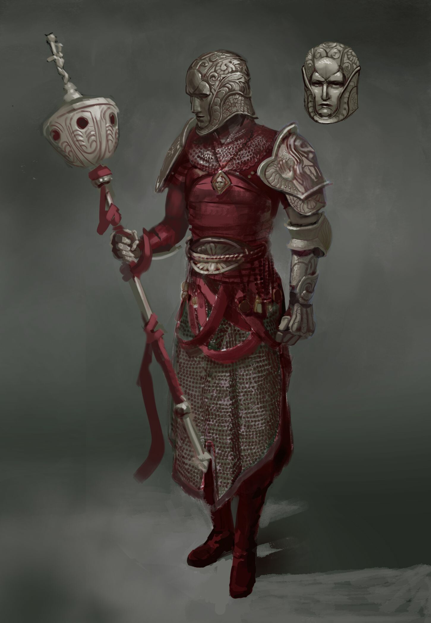 Ecclessiae Soldier, the complete outfit and helmet of the members of the order.