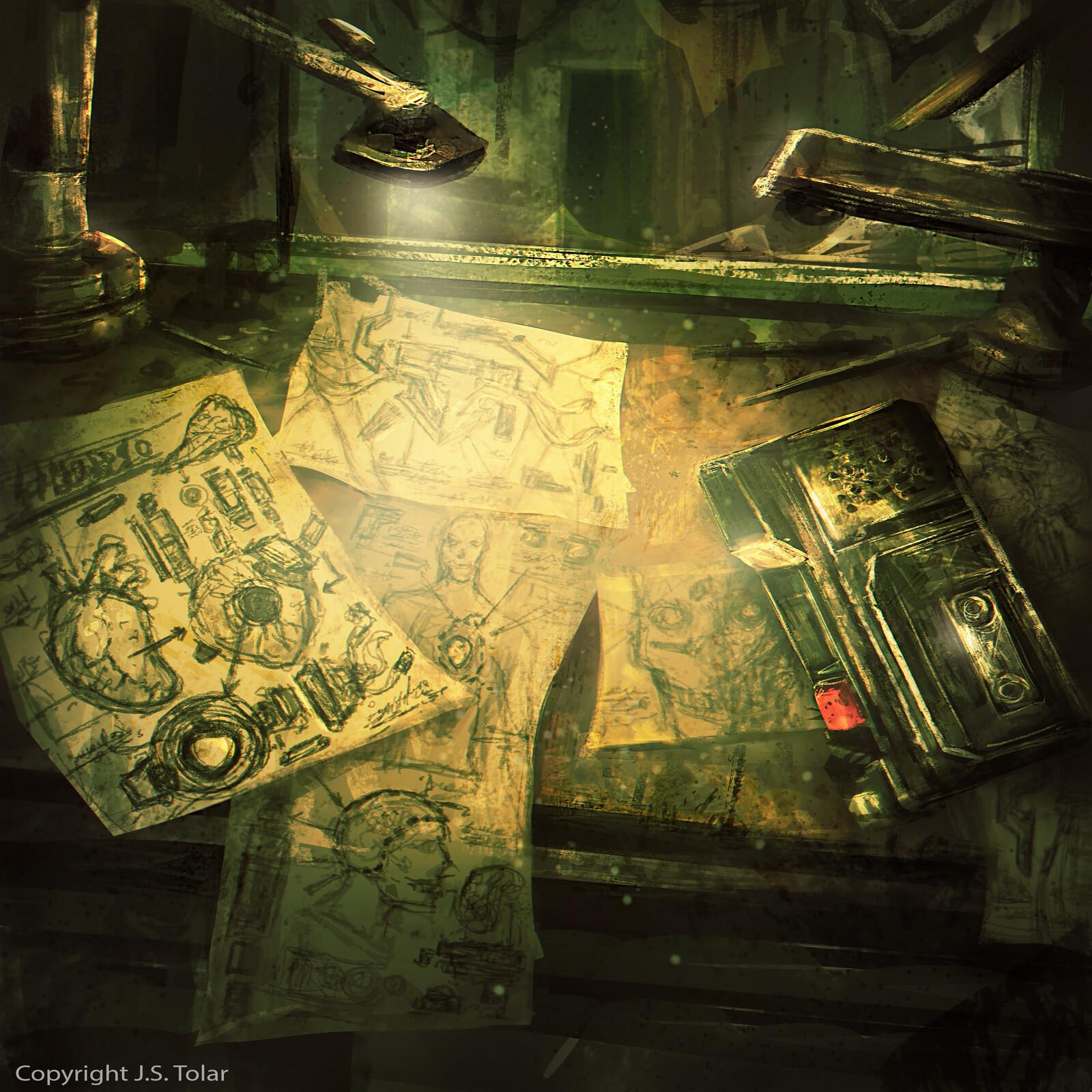 Visionary II- Dark Eternal Future Album booklet Art