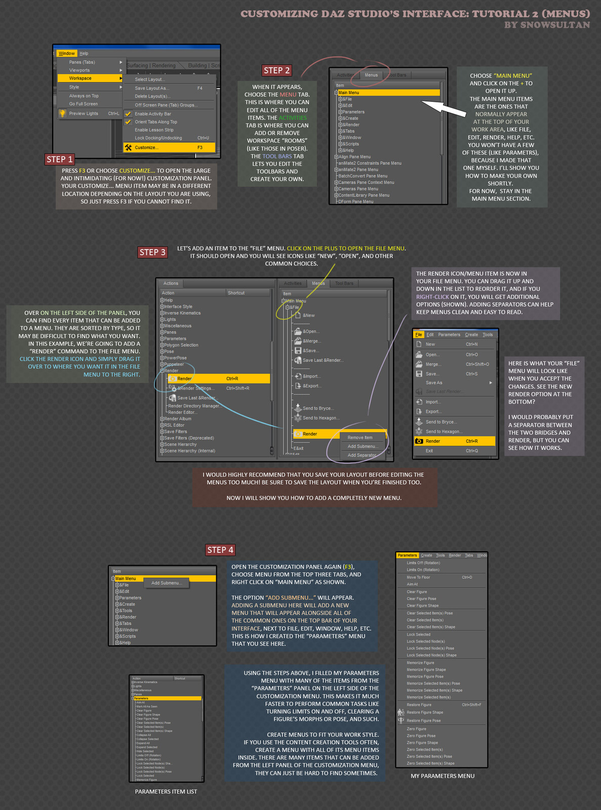DAZ Studio's interface is *highly* customizable, I've really done a number on my own.  Just save often!