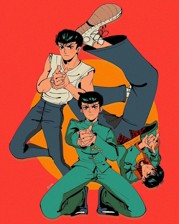 ArtStation - [Yu Yu Hakusho] Yusuke & Friends, S Naz S
