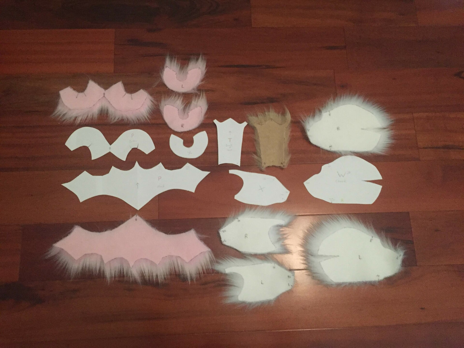 - Head Pattern & Cut Mongolian Faux Fur side by side