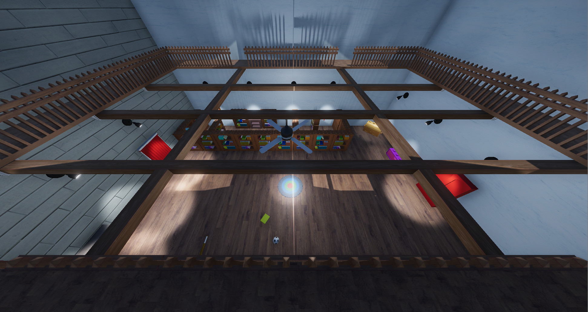 I textured the beams and flooring.