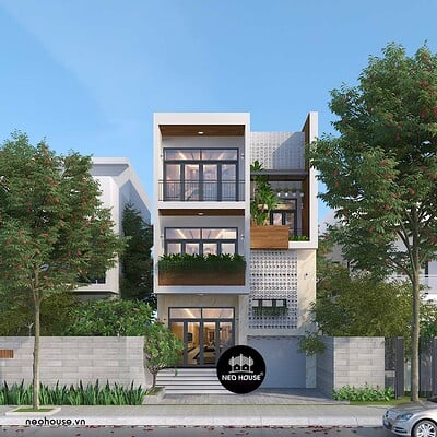 Neohouse architecture biet thu 3 tang hien dai tai vung tau 1
