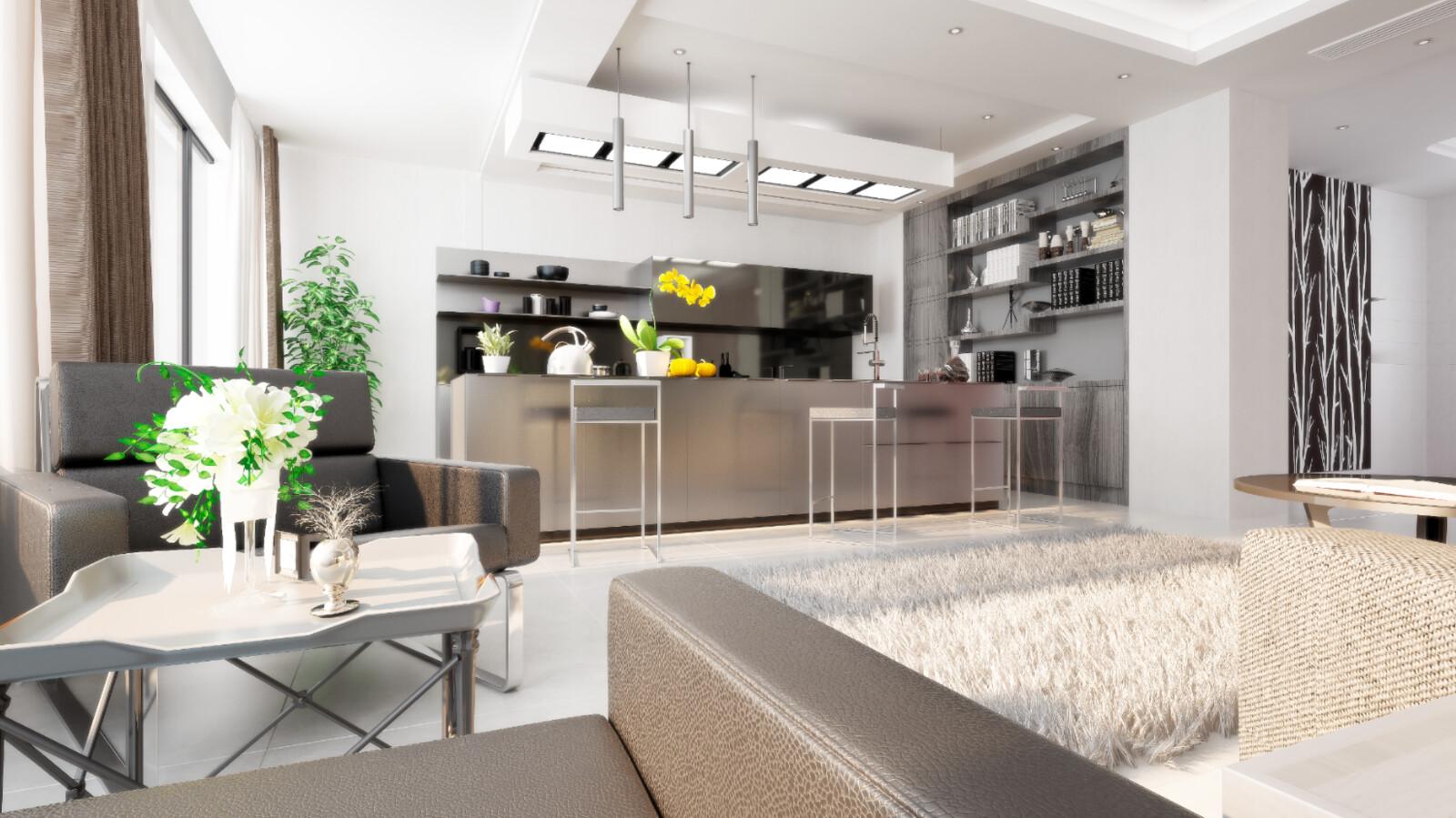 Interior design other render perspective