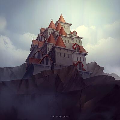 Nele diel castle at the mountian peak