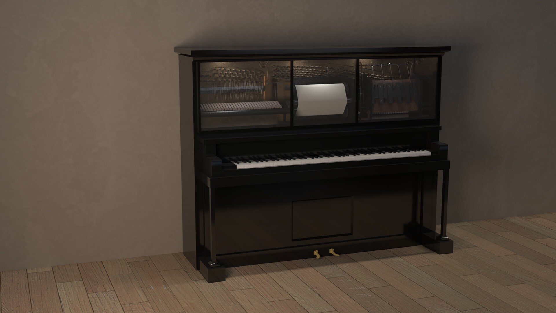 I just learned how to render with Arnold in maya and tried it out on the piano