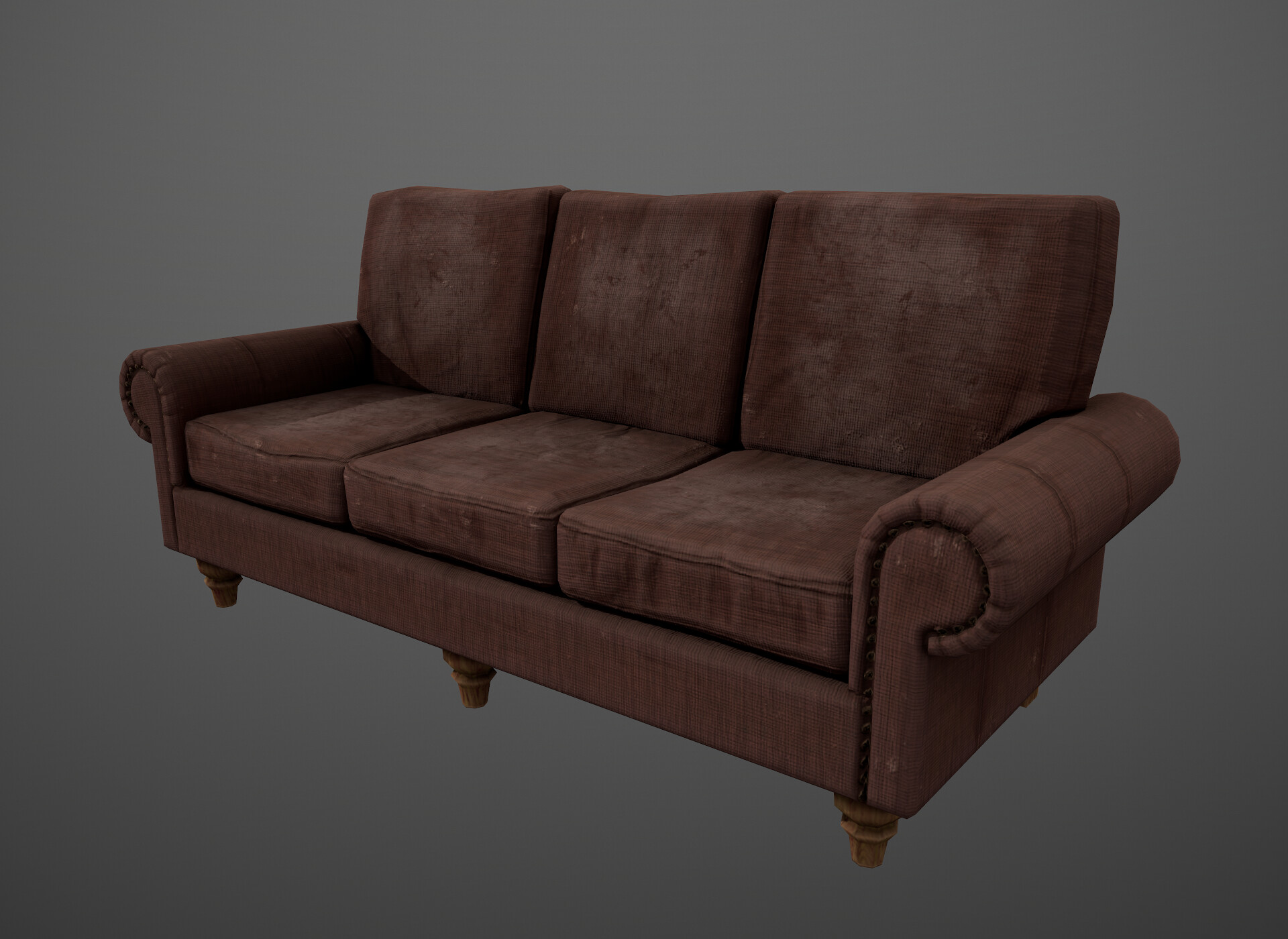 Sofa (with slightly altered texture) rendered in marmoset