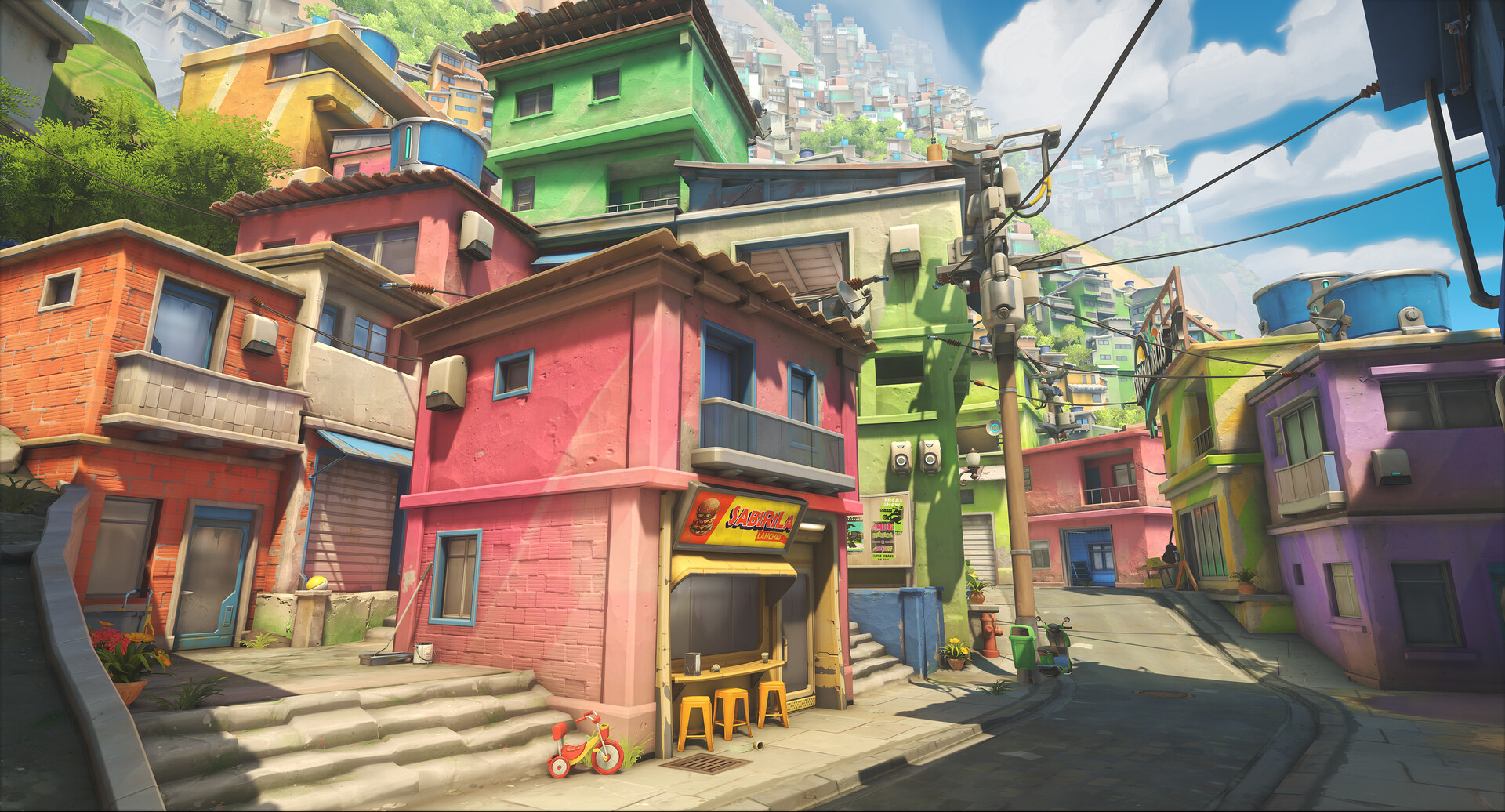 Helder pinto ow2 blizzcon 2019 screenshot maps rio pvp favela