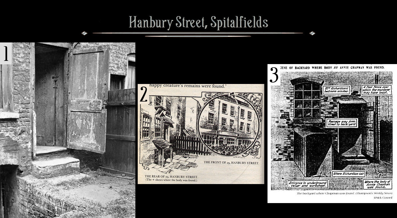 Garden where the body of Annie Chapman was discovered, generally held to be the second victim of Jack the Ripper - now demolished.