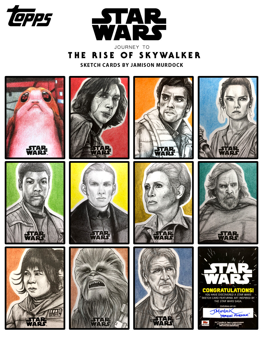 Artstation Topps Star Wars Journey To The Rise Of Skywalker Sketch Cards Jamison Murdock