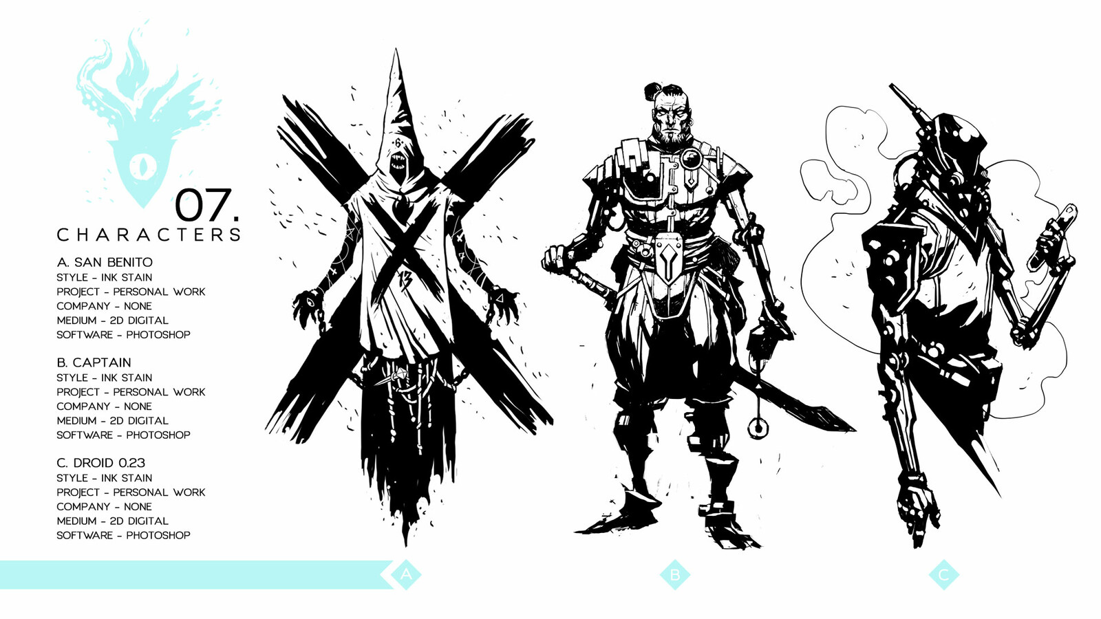Character sketches - Personal work