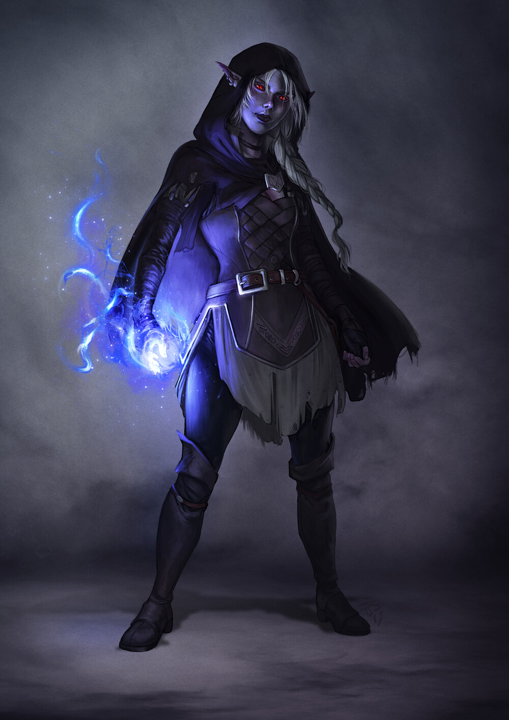 Drow Sorcerer - dnd commission