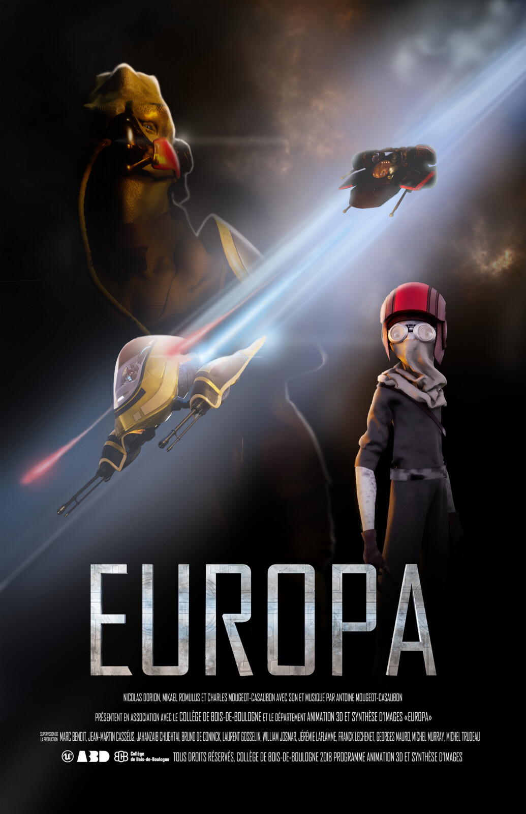 """tah-dah EUROPA was projected during the """"Soirée A3D à BdeB 2018"""" animation film gala"""
