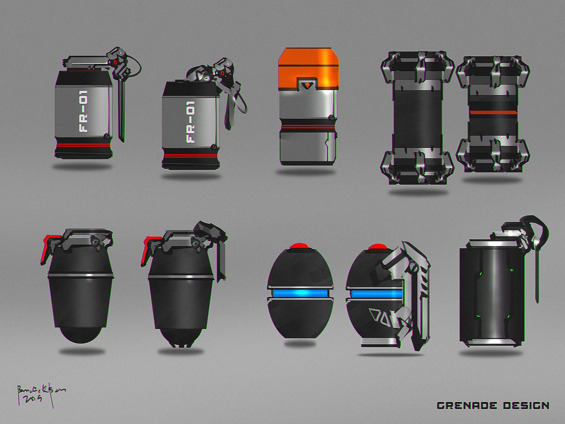 Grenade Concept Designs