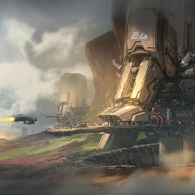 J c park sci fi base concept process