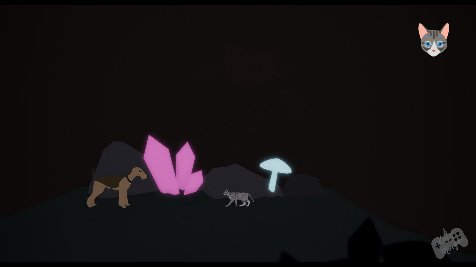Cave assets. All assets here are 3D made by myself in Maya.