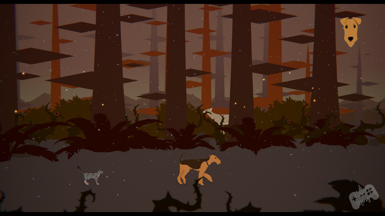 They make their way forward, seeing other animals fleeing the other direction. All assets here are 3D made by myself in Maya.