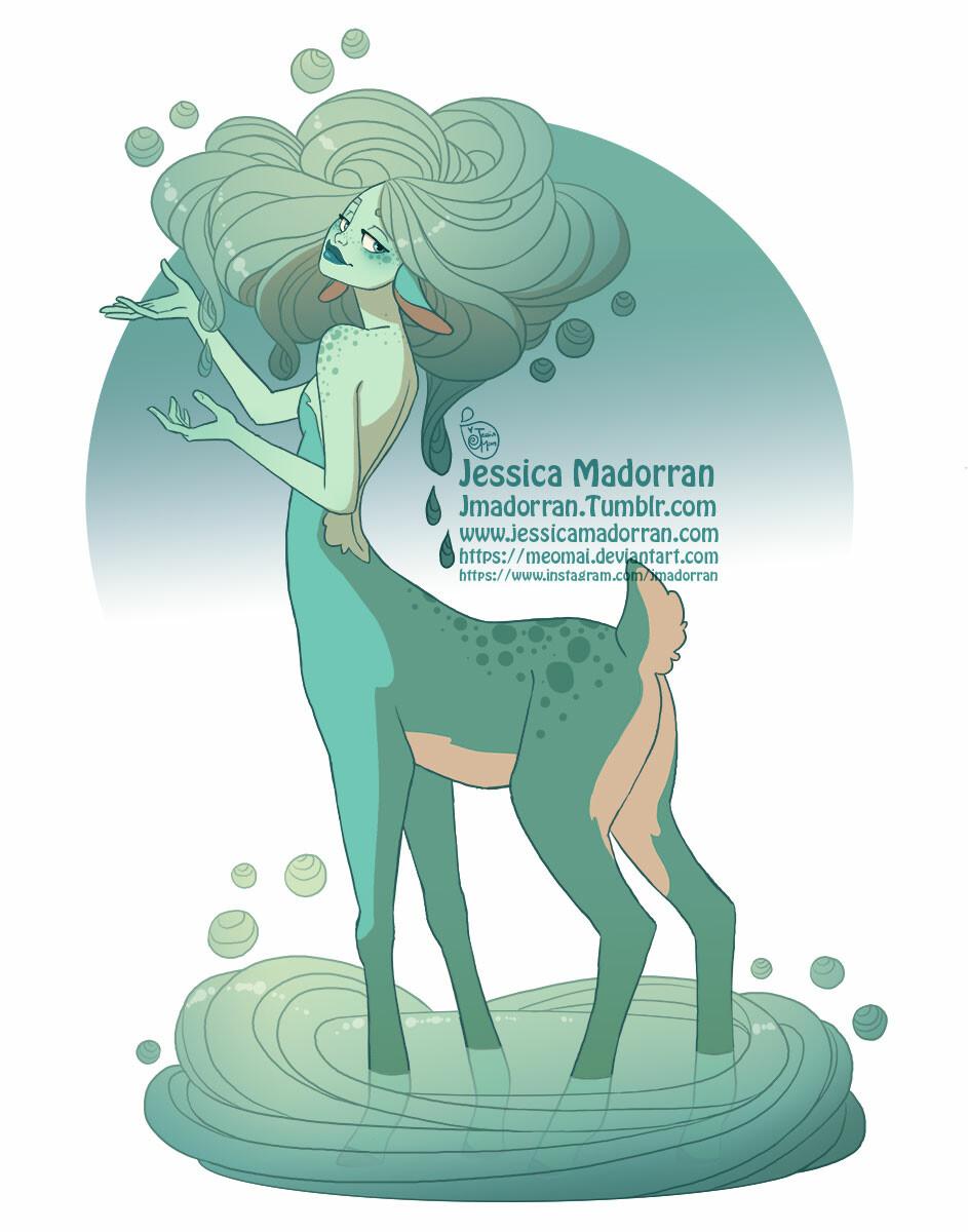 Jessica madorran character design rain deer centaur 2019 artstation
