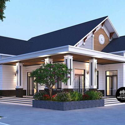 Neohouse architecture biet thu nha vuon 1 tang