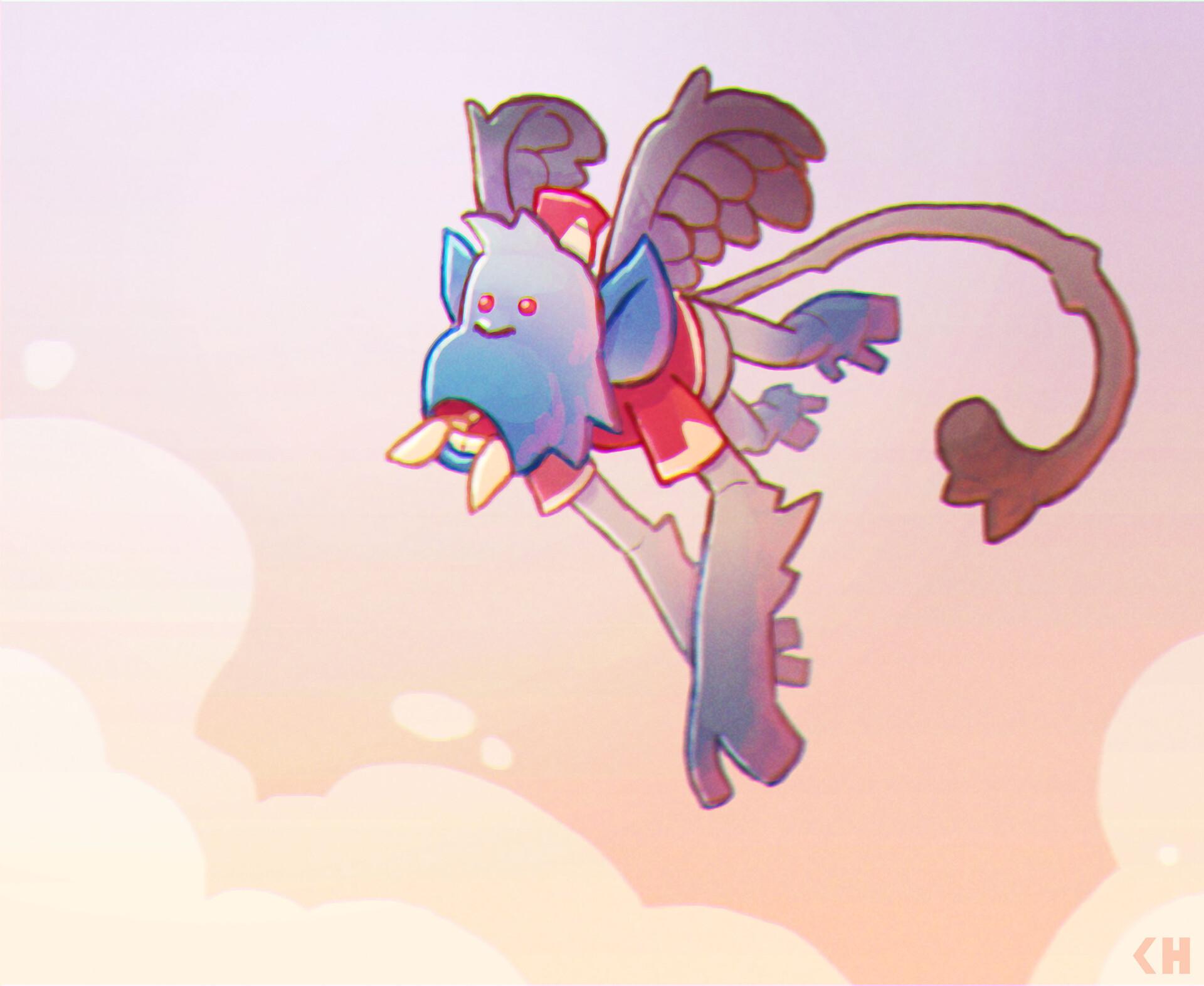 Chema samaniego flying monkey illustration