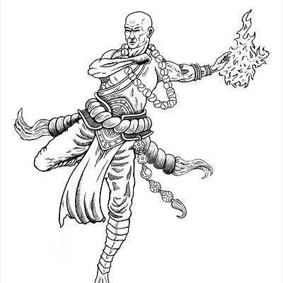 Christopher kallini linework monk