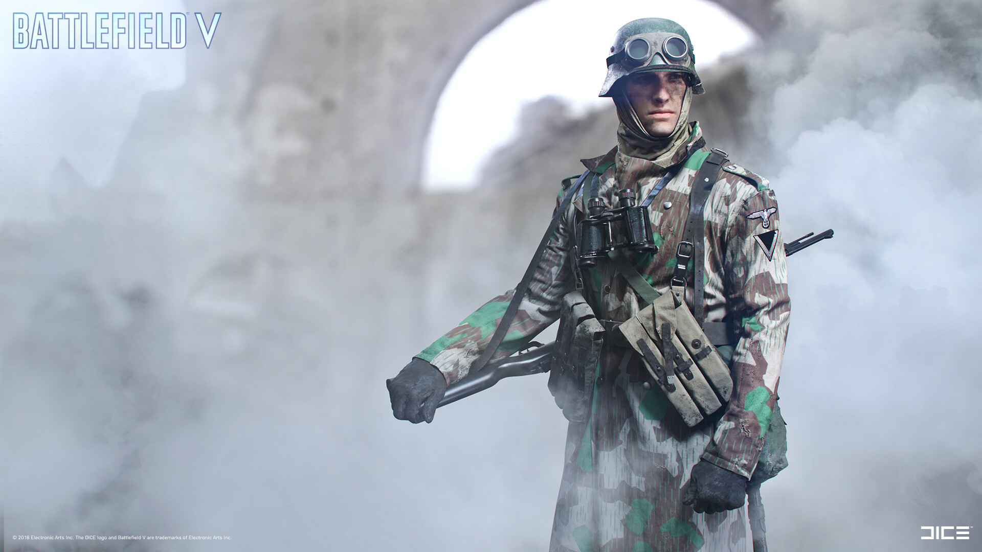 """Battlefield V"" - Axis Sniper ""forest"" - Customization concept art"