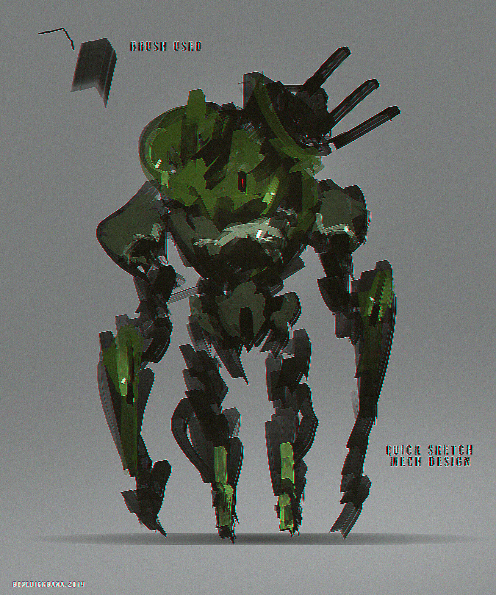 Quick Sketch - Mech Design (one of the brushes i used, available for download)
