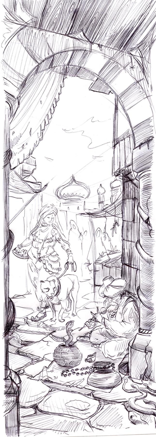 Dirk wachsmuth kapitelstarter aranien 4web sketch