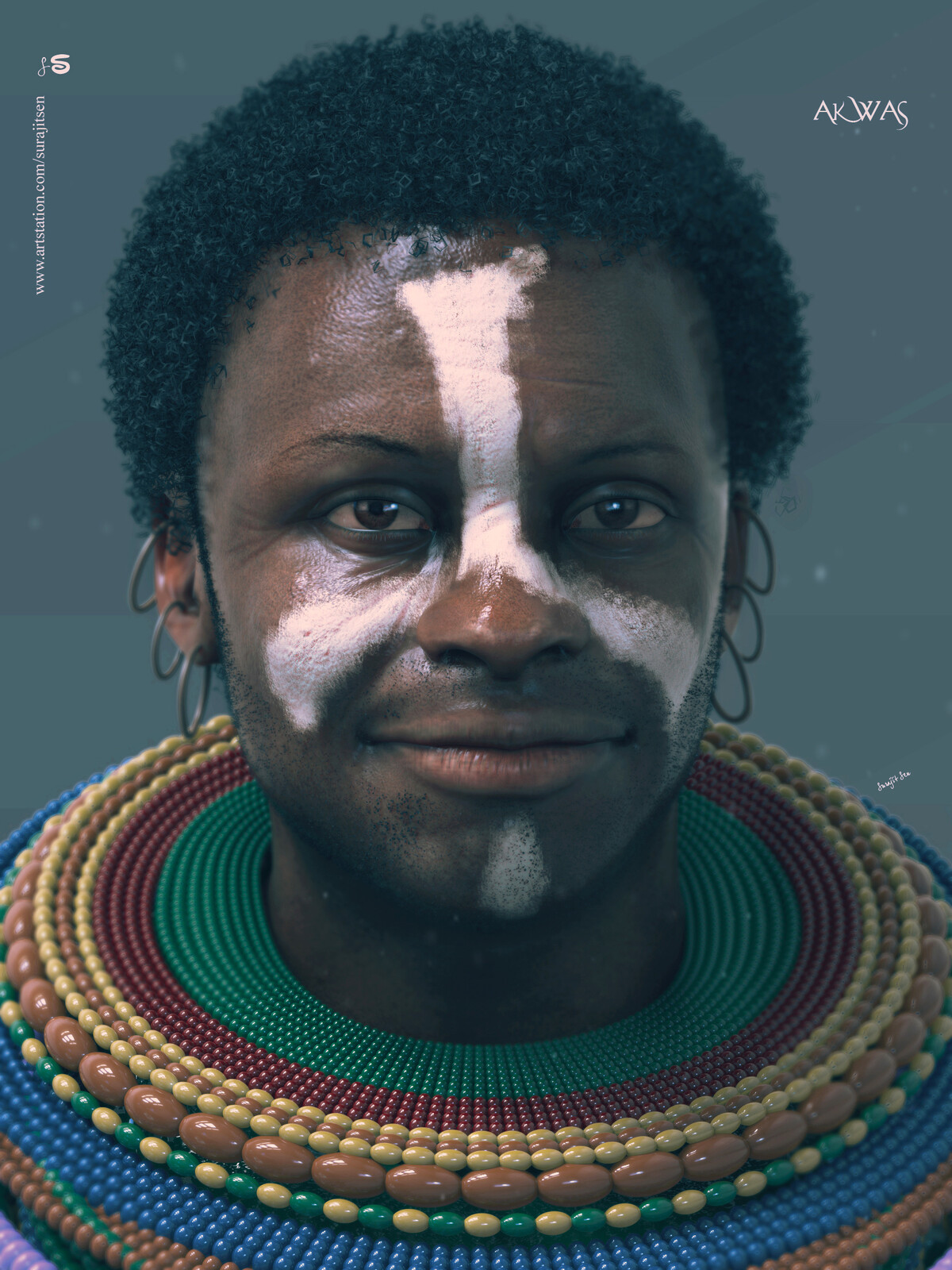 """I have done some works and updated one of my CG Characters """"AKWAS"""" - African Tribal CG Character. Hope you like it  :)"""