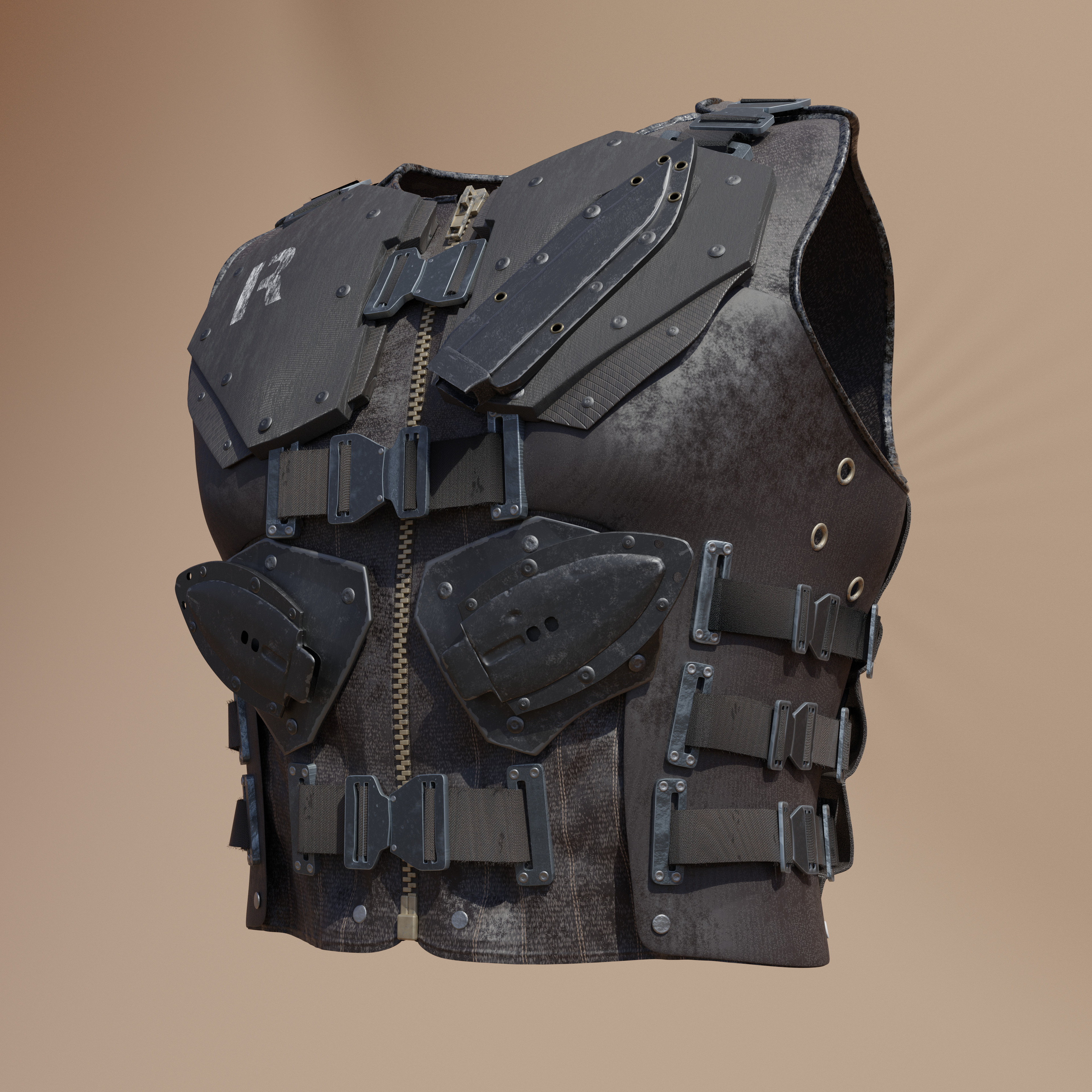 Final Front, including particles on Belt and some sculptured damage.