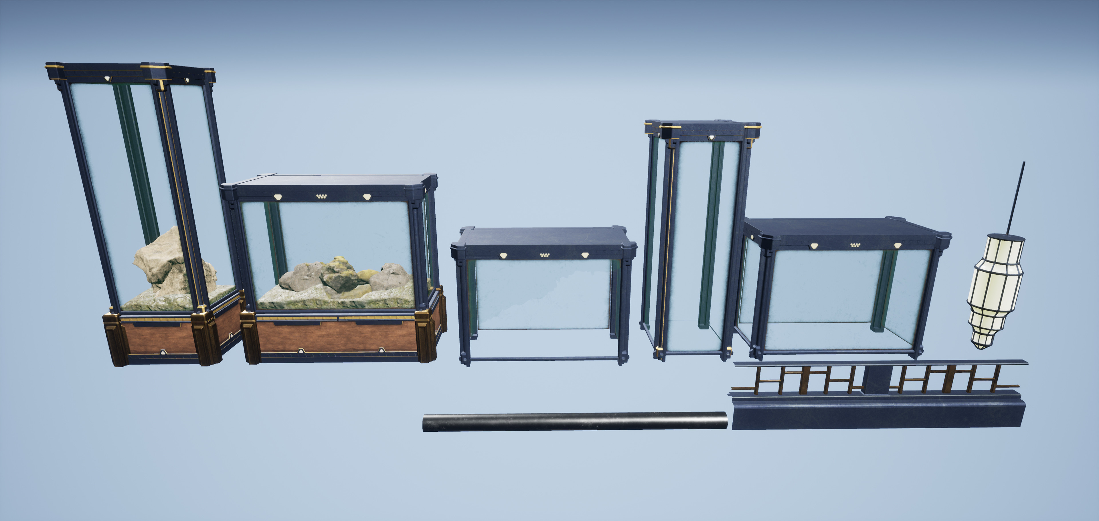 A few other modular assets utilized in the scene.