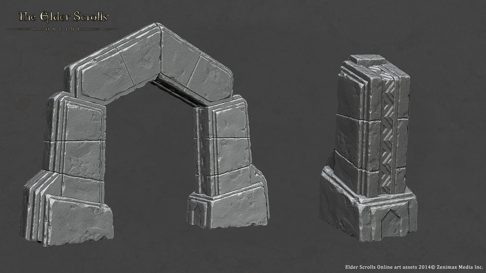 Zbrush sculpt of Ancient Stone Arch created for ESO